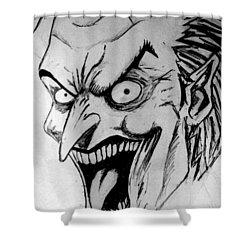 Shower Curtain featuring the painting Joker by Salman Ravish