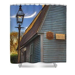 Jonathan Gibbs House Shower Curtain by Joann Vitali