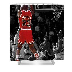 Jordan Buzzer Beater Shower Curtain