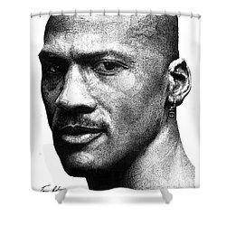 Jordan Dots Shower Curtain