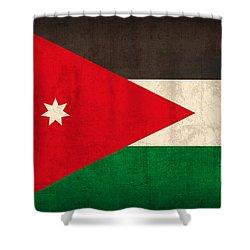 Jordan Flag Vintage Distressed Finish Shower Curtain by Design Turnpike