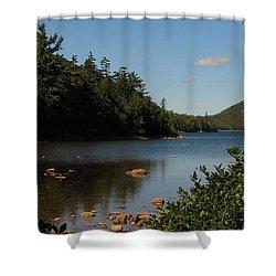 Shower Curtain featuring the photograph Jordan Pond Bar Harbor Maine by Jennifer Wheatley Wolf