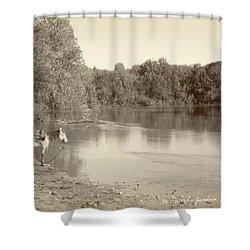 Jordan River C1868 Shower Curtain