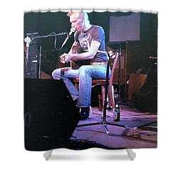Shower Curtain featuring the photograph Jorma Kaukonen - Jefferson Airplane by Susan Carella