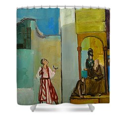 Joseph Sent To His Brothers Shower Curtain by Richard Mcbee