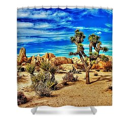 Shower Curtain featuring the photograph Joshua Tree by Benjamin Yeager