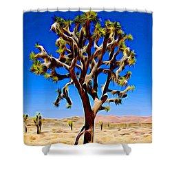 Joshua Tree Dark Shower Curtain by Jeff Iverson