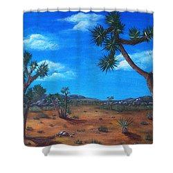 Joshua Tree Desert Shower Curtain by Anastasiya Malakhova
