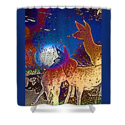 Joy In The Holidays Shower Curtain by Lenore Senior and Dawn Senior-Trask
