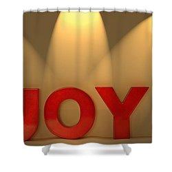 Joy Shower Curtain by Leah Hammond