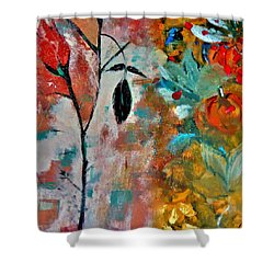 Joy Shower Curtain by Lisa Kaiser