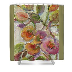 Shower Curtain featuring the painting Joy by Mary Wolf