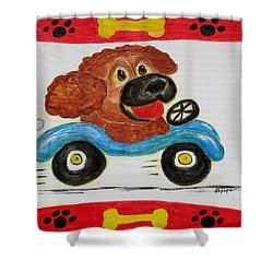 Joy Ride Shower Curtain by Diane Pape