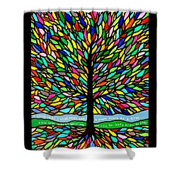 Joyce Kilmer's Tree Shower Curtain