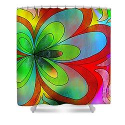 Joyful Peace - Paix Joyeuse Shower Curtain by Louise Lamirande