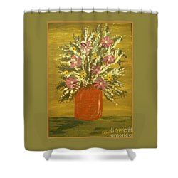 Shower Curtain featuring the painting Joyous Floral by Bobbee Rickard