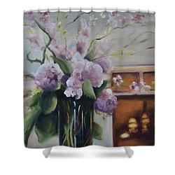 Joyous Occasion Shower Curtain by Donna Tuten