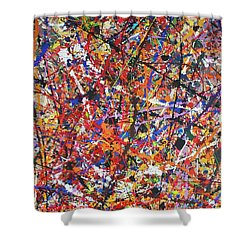Shower Curtain featuring the painting JP by Michael Cross