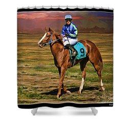 Juan Hermandez On Horse Atticus Ghost Shower Curtain