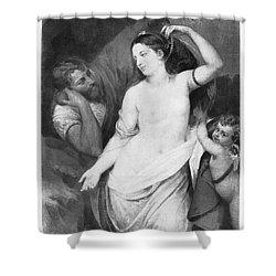 Judgement Of Paris Shower Curtain by Granger