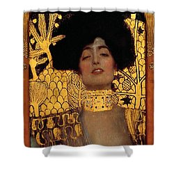 Judith And The Head Of Holofernes Shower Curtain by Gustav Klimt