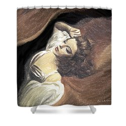 Judy Garland - Beauty Dream Shower Curtain by Angela A Stanton