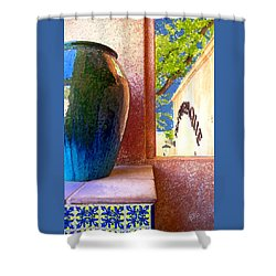 Jug And Window Shower Curtain by Ben and Raisa Gertsberg