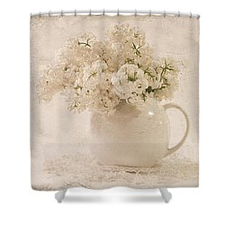 Jug Of White Lilacs Shower Curtain