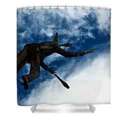Juggling Statue Shower Curtain by Jess Kraft