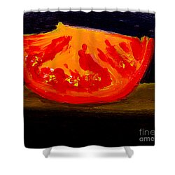 Juicy Tomato Modern Art Shower Curtain