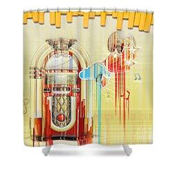 Juke Box Shower Curtain by Liane Wright