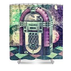 Juke Box Shower Curtain by Mo T