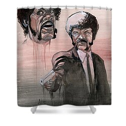 Jules Bamf Shower Curtain by Jimmy Adams