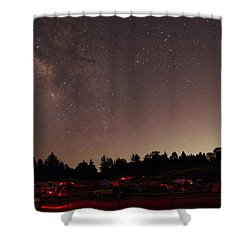 Julian Night Sky Milky Way Shower Curtain