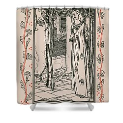 Juliet From Romeo And Juliet Shower Curtain by Robert Anning Bell