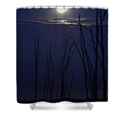 July 2014 Super Moon Shower Curtain by Raymond Salani III
