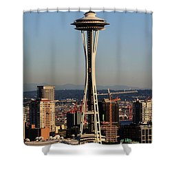 July 4th Needle Shower Curtain by Benjamin Yeager