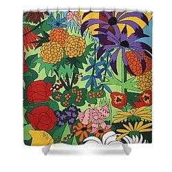 July Garden Shower Curtain by Rojax Art