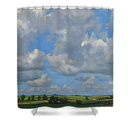 July In The Valley Shower Curtain by Bruce Morrison