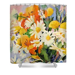 July Summer Arrangement  Shower Curtain