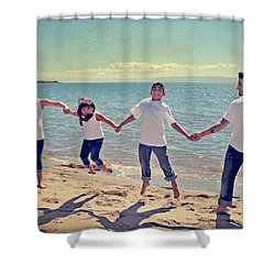 Jump For Joy Shower Curtain by Laurie Search