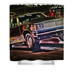 Jumping Chevelle Shower Curtain by Richard J Cassato