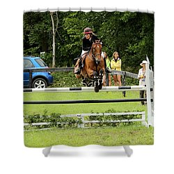 Jumping Eventer Shower Curtain