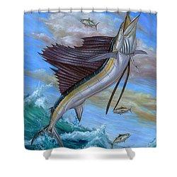 Jumping Sailfish Shower Curtain