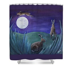 Jumping The Moon Shower Curtain