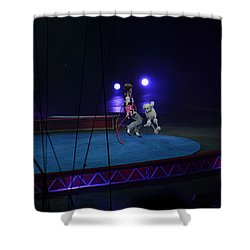 Shower Curtain featuring the photograph Jumprope With Fido by Robert Meanor