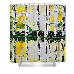 June Shower Curtain by Patricia Olson