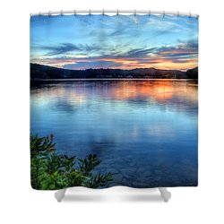 Shower Curtain featuring the photograph June Sunset by Jaki Miller
