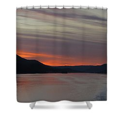 Juneau Alaska Shower Curtain by Jennifer Wheatley Wolf