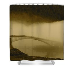 Juneau - Douglas Bridge Shower Curtain